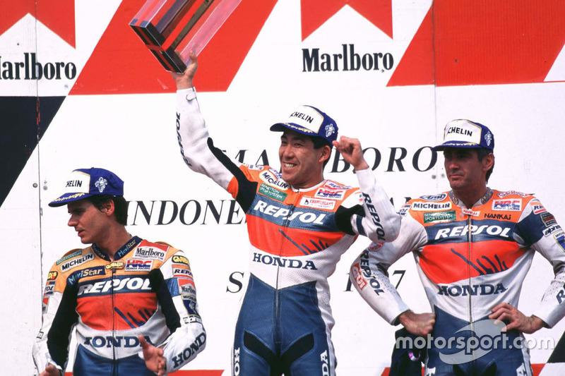 Podium: 1. Tadayuki Okada, Repsol Honda Team; 2. Mick Doohan, Repsol Honda Team; 3. Alex Crivillé, Repsol Honda Team