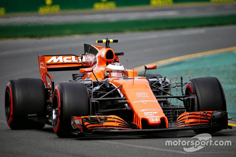 Stoffel Vandoorne, McLaren MCL32, mit Messgeräten am Auto