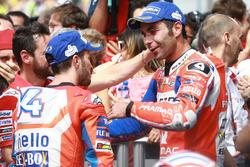 1. Andrea Dovizioso, Ducati Team; 3. Danilo Petrucci, Pramac Racing