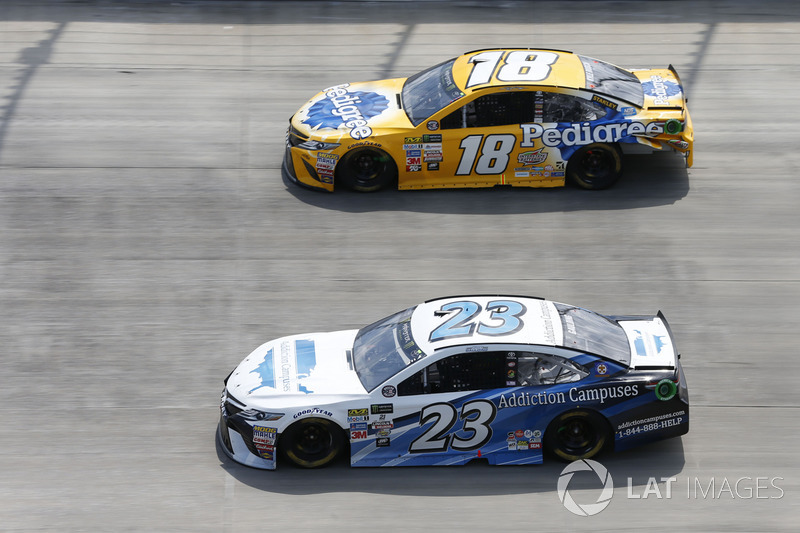Gray Gaulding, BK Racing, Toyota; Kyle Busch, Joe Gibbs Racing, Toyota