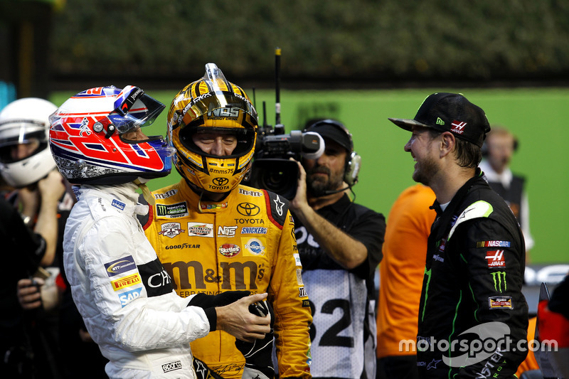 Jenson Button, Kyle Busch y Kurt Busch