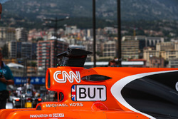 The car of Jenson Button, McLaren MCL32 in pit lane