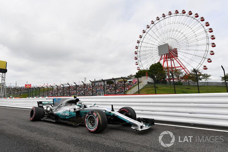 Valtteri Bottas, Mercedes-Benz F1 W08 daños del accidente en FP3