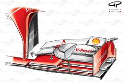Ferrari F138 front wing, Hungarian GP