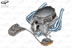 McLaren MP4-24 - Mercedes Engine and KERS layout