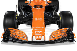 The McLaren MCL32 front wing detail