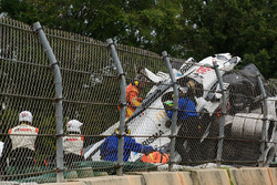 Auto dañado de #52 PR1 Mathiasen Motorsports Ligier: Olivier Pla, Jose Gutierrez, Julien Canal