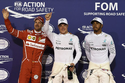 Polesitter: Valtteri Bottas, Mercedes AMG, second place Lewis Hamilton, Mercedes AMG, third place Se