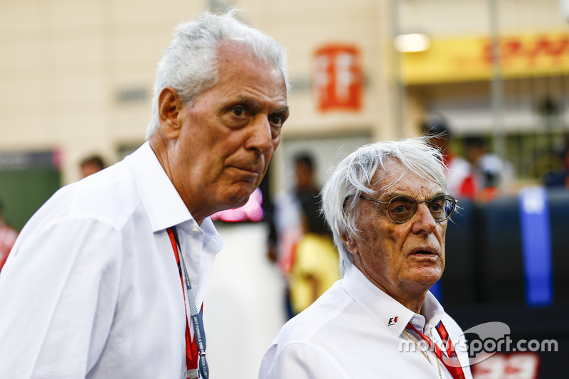 Marco Tronchetti Provera, Executive Vice Chairman and Chief Executive Officer, Pirelli, Bernie Ecclestone, Chairman Emiritus of Formula 1