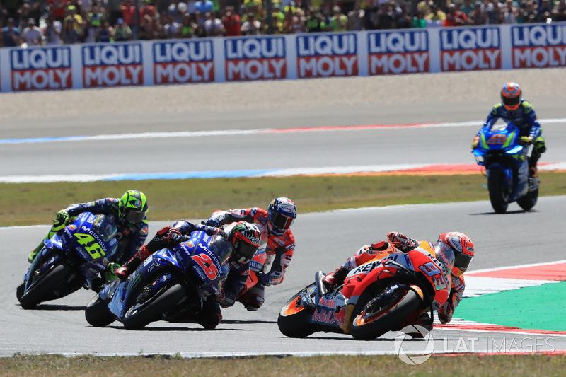 Renn-Action: Marc Marquez, Repsol Honda Team, führt