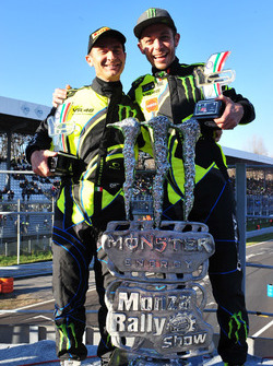 Winners Valentino Rossi, Carlo Cassina, Ford Fiesta WRC