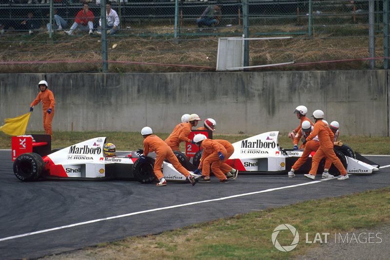 2: Alain Prost y Ayrton Senna (McLaren)