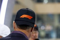 David Coulthard, Tv Presenter, the new F1 logo cap