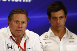 Zak Brown, Executive Director, McLaren Technology Group and Toto Wolff, Executive Director Mercedes