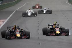 Daniel Ricciardo, Red Bull Racing RB14 Tag Heuer, Max Verstappen, Red Bull Racing RB14 Tag Heuer, Charles Leclerc, Sauber C37 Ferrari, Lance Stroll, Williams FW41 Mercedes