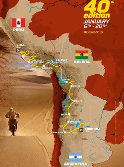 The 2018 Dakar route