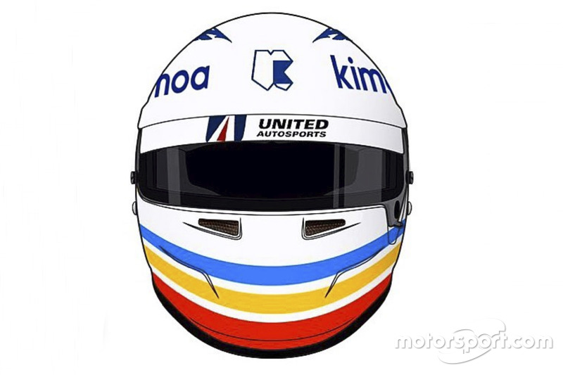 Fernando Alonso special helmet for Daytona 24