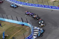 Oliver Turvey, NIO Formula E Team, Daniel Abt, Audi Sport ABT Schaeffler, Andre Lotterer, Techeetah, nd Sam Bird, DS Virgin Racing