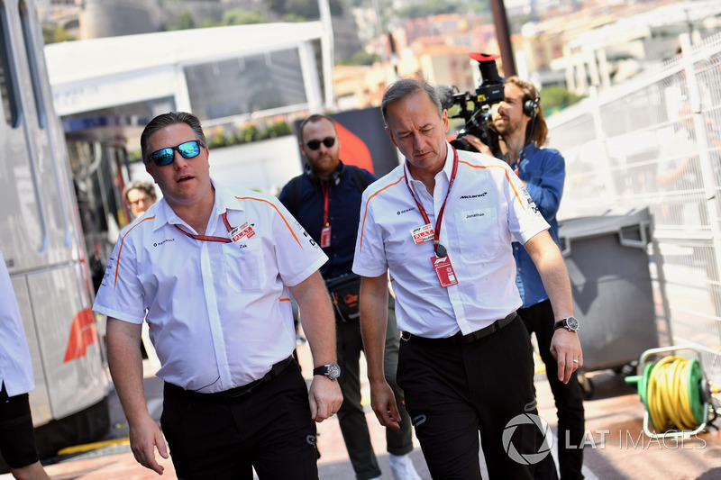 Zak Brown, McLaren Racing CEO and Jonathan Neale, McLaren Managing Director