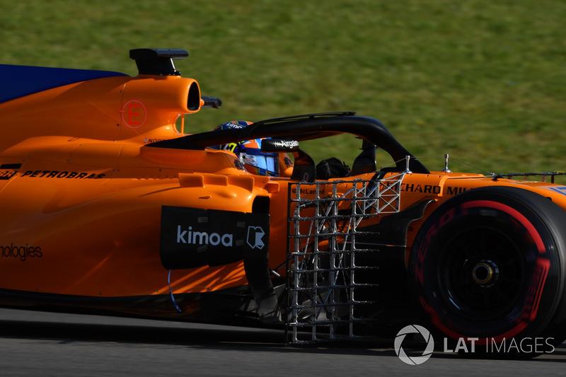 Lando Norris, McLaren MCL33 avec des capteurs aéro