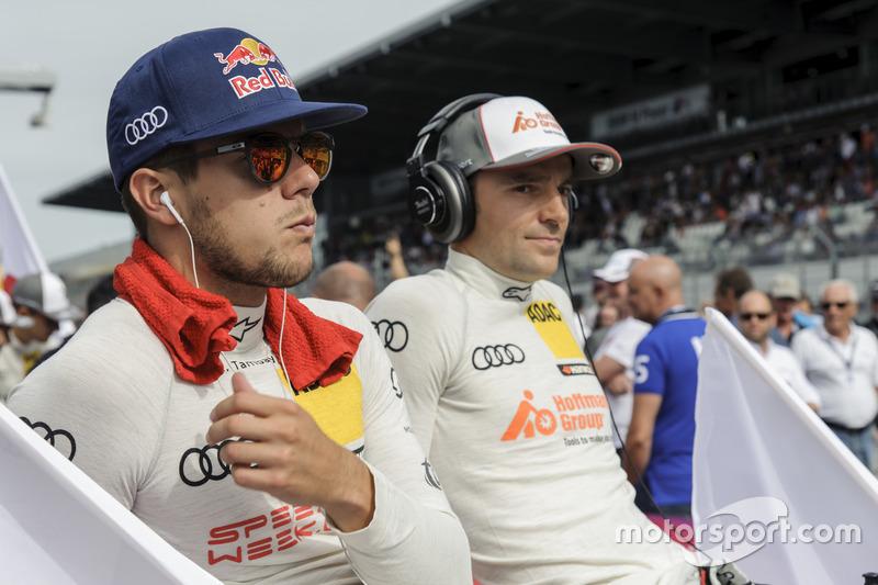 Adrian Tambey, Audi Sport Team Rosberg, Audi RS 5 DTM; Jamie Green, Audi Sport Team Rosberg, Audi RS 5 DTM