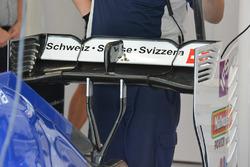 Detalle de alerón trasero del Sauber C35