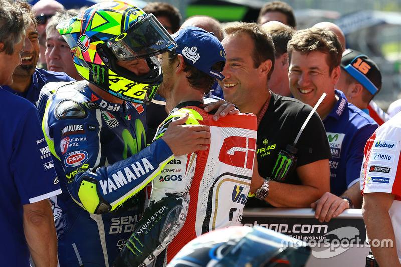 Valentino Rossi, Yamaha Factory Racing e Cal Crutchlow, Team LCR Honda