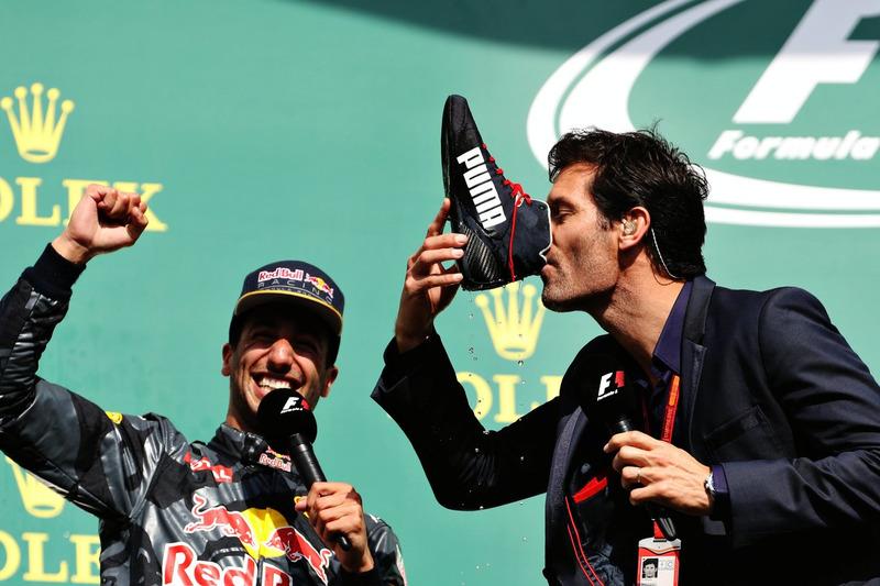 Podyum: Daniel Ricciardo, Red Bull Racing ve Mark Webber