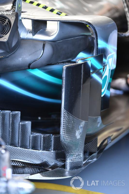 Detalle del bargeboard del Mercedes-AMG F1 W09