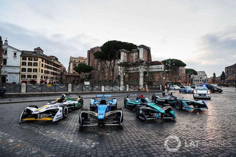 Formula E cars line-up