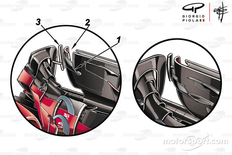 Endplate del ala delantera del Ferrari SF71H