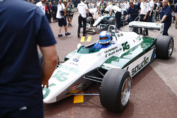 Koke Rosberg is reunited with his 1982 Williams FW08 Cosworth