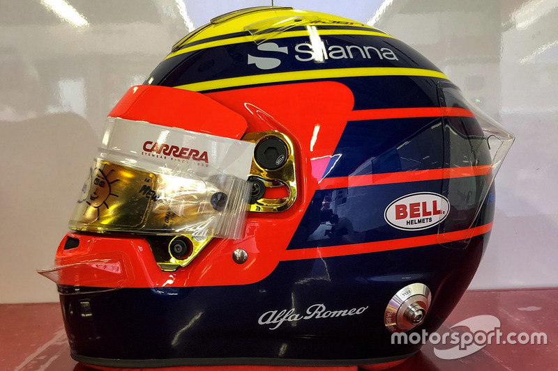 Helm spesial GP Monako Charles Leclerc, Sauber