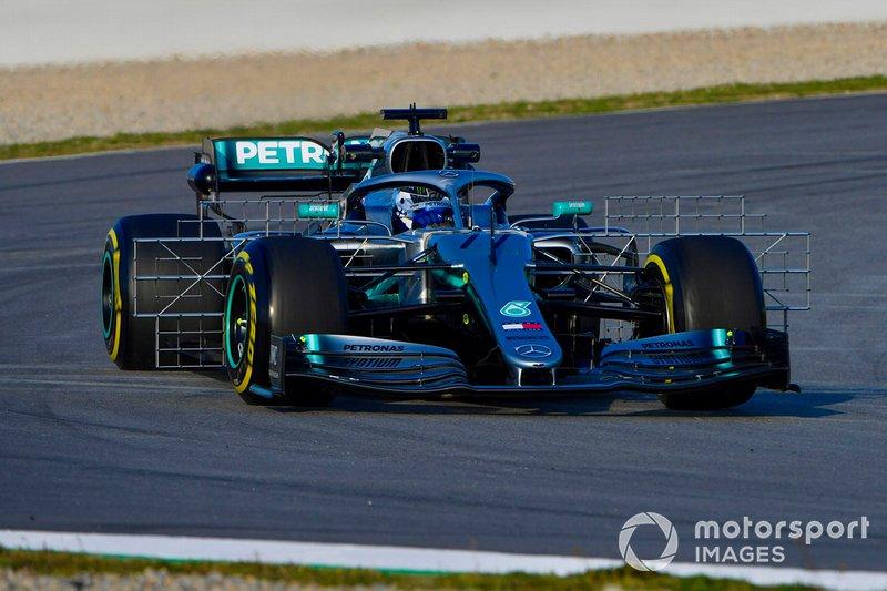 Mercedes AMG F1 W10, carries a test rig