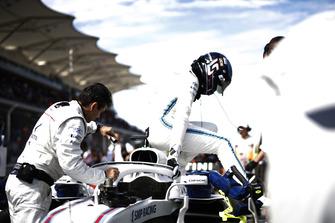 Lance Stroll, Williams Racing, arriva in griglia di partenza