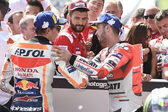 Tweede Marc Marquez, Repsol Honda Team, derde Andrea Dovizioso, Ducati Team