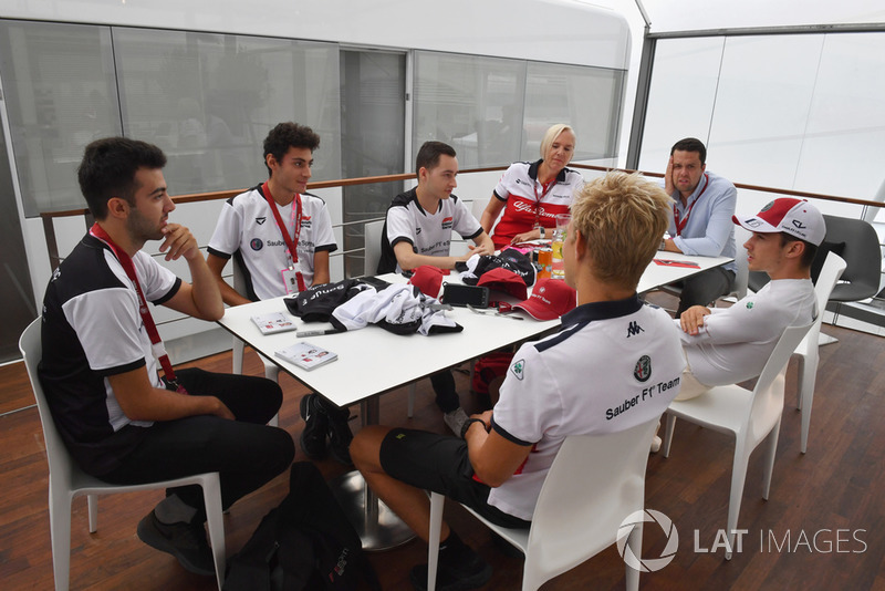 Charles Leclerc, Sauber and Marcus Ericsson, Sauber with Sauber eSports drivers