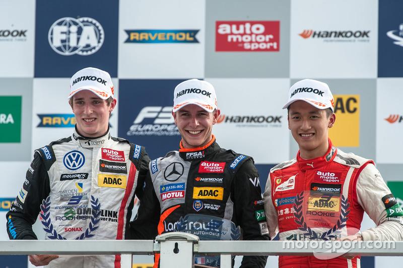 Podyum: Joel Eriksson, Motopark Dallara F312 - Volkswagen, Anthoine Hubert, Van Amersfoort Racing D