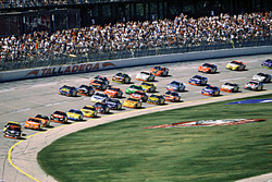 Dale Earnhardt leads
