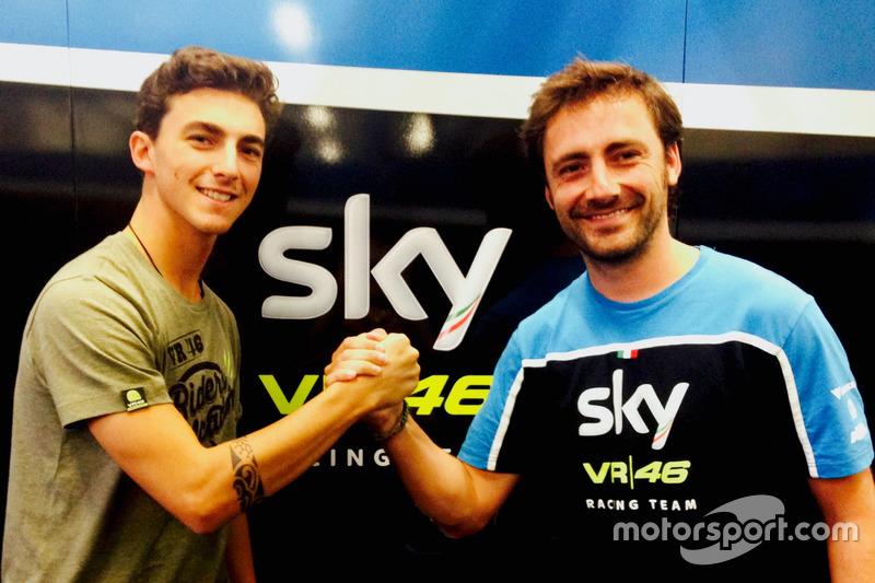 Francesco Bagnaia dan Team Manager, Pablo Nieto