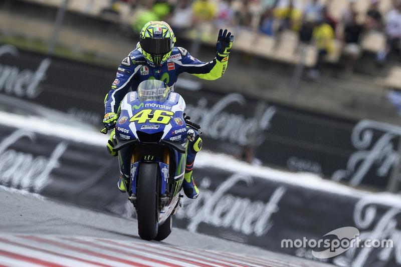 Katalonien, Barcelona: Valentino Rossi (Yamaha)
