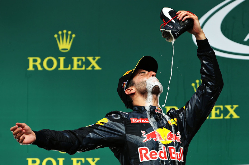 "#6: ""Shoey"" von Daniel Ricciardo, Red Bull Racing, in Hockenheim"