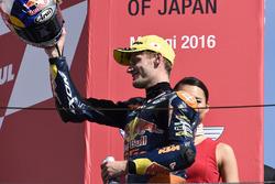 Podium: second place Brad Binder, Red Bull KTM Ajo