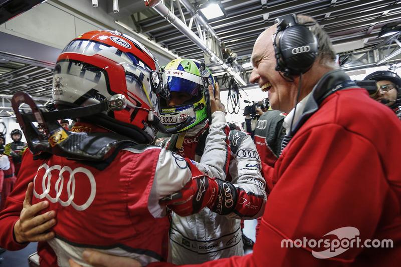 لوكاس دي غراسي، لويك دوفال، فريق أودي والدكتور فولفغانغ أولريخ، رئيس أودي موتورسبورت