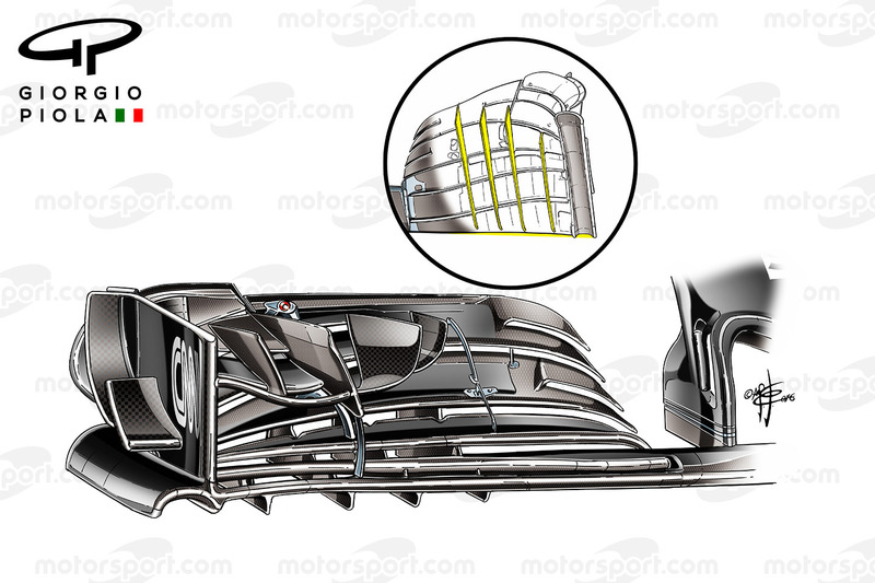 McLaren MP4/31 front wing fins, Mexican GP