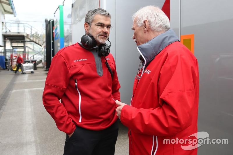Dieter Gass, Head of DTM at Audi Sport and Ulrich Baretzky, Audi Sport