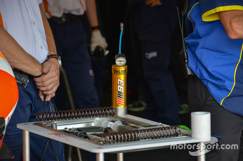 Repsol Honda Team garage detail