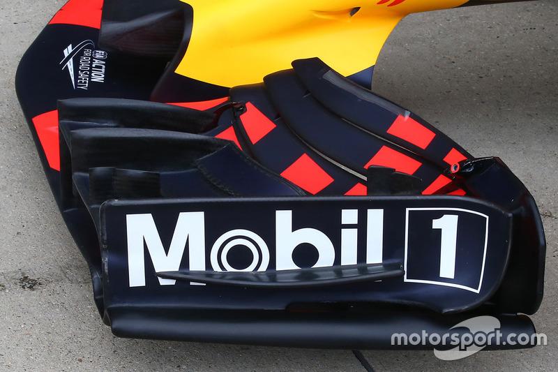 Red Bull RB13 detalle de ala frontal