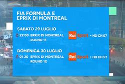 ePrix di Montréal, la locandina RAI