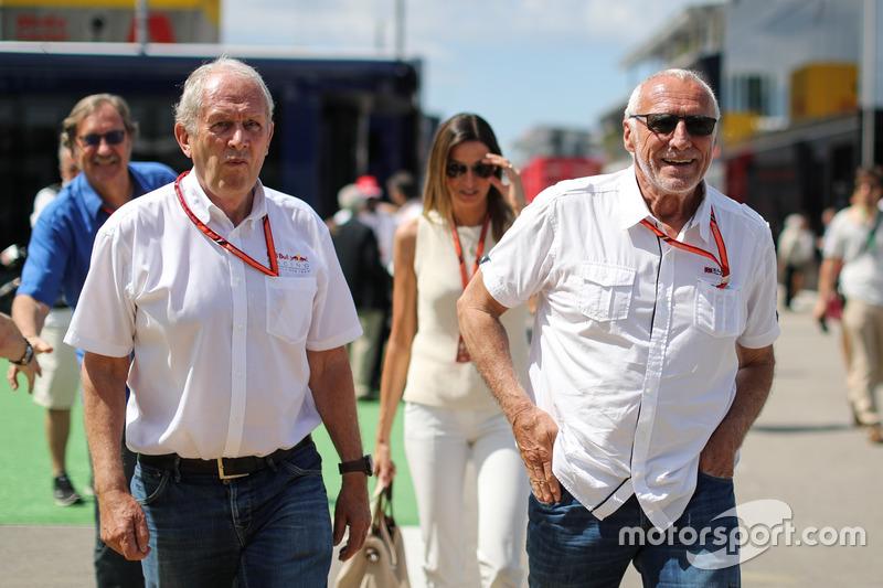 Консультант Red Bull Гельмут Марко, засновник і генеральний директор Red Bull Дітріх Матєшиц